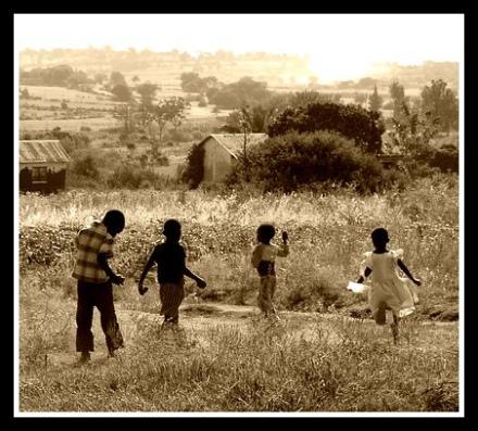 kids field sepia