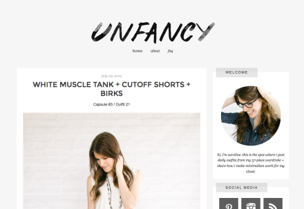 unfancy blog